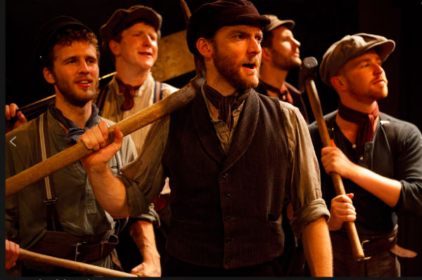 Martin Neely and the cast of The Hired Man, at the Landor Theatre in 2011