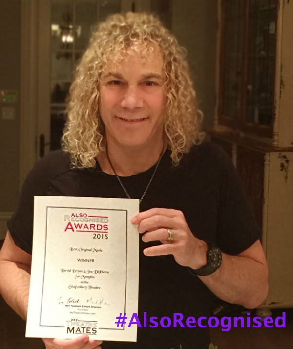 David Bryan wrote music and lyrics for Memphis, which wins Best Original Music