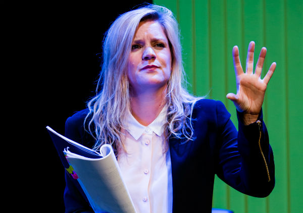 Olivia Poulet stars in Mark Ravenhill's Product at the Arcola Theatre
