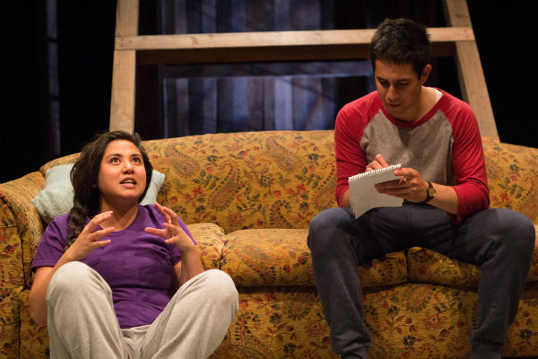 Maria Jan Carreon and Gideon Bautista in Edith Can Shoot Things and Hit Them at Company One Theatre in Boston Massachusetts, USA.