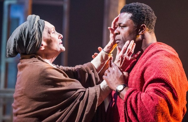 Sian Phillips and Danny Sapani in Les Blancs