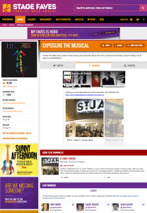 Find all social media feeds for Exposure and its cast on www.stagefaves.com