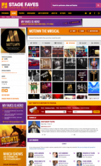 Find social media feeds for Motown and all its cast on www.stagefaves.com