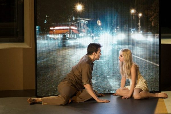 Michael C Hall and Sophia Anna Caruso in the New York production of Lazarus