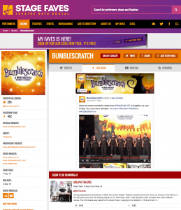 Find all social media for Bumblescratch & its cast on www.stagefaves.com