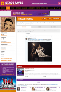 Find all social media for Through the Mill & its cast on www.stagefaves.com