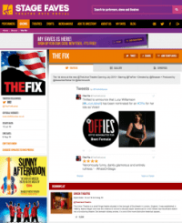 Find all social media for THE FIX & its cast on www.stagefaves.com