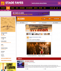 Find all social media for Allegro & its cast on www.stagefaves.com