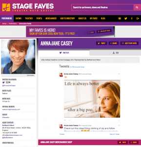 Get all social media for Anna-Jane Casey & other favourite musical performers on www.stagefaves.com