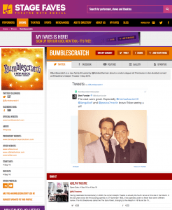 Get all social media for BUMBLESCRATCH & its cast on www.stagefaves.com