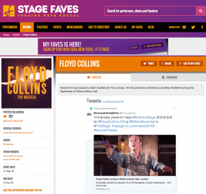 Get all social media for FLOYD COLLINS & its cast on www.stagefaves.com