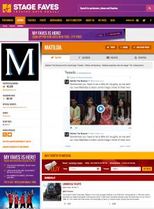 Get all social media for MATILDA & its cast on www.stagefaves.com