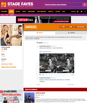 Get all social media for CAROUSEL & its stars on www.stagefaves.com