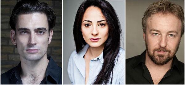 Simon Thomas, Victoria Hamilton-Barritt and John Owen-Jones