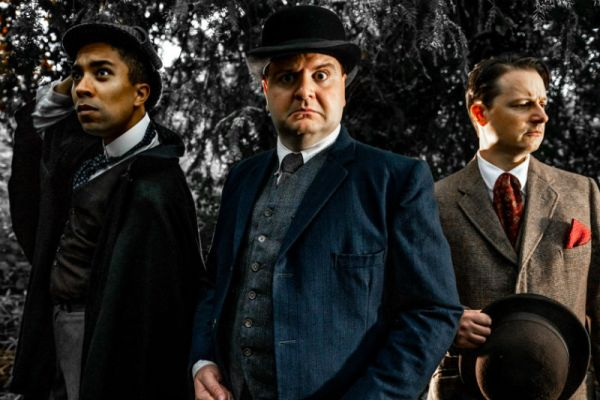 Dowsell (centre) with his Baskervilles co-stars