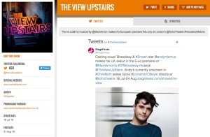Get social with The View Upstairs & its cast on www.stagefaves.com