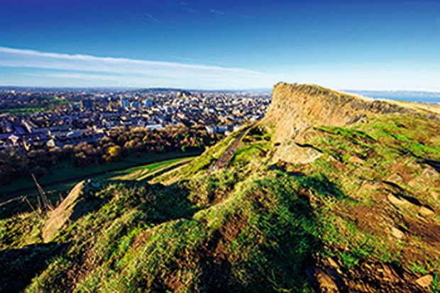 Escaping from the Fringe frenzy at Arthur's Seat in Edinburgh