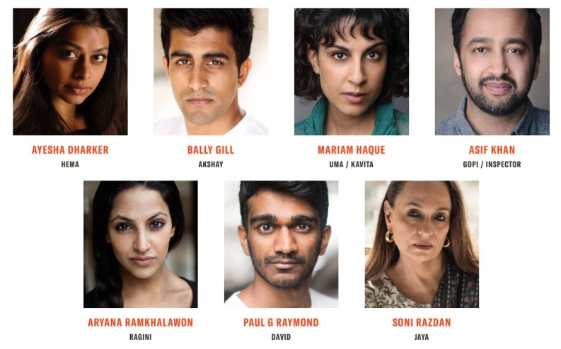 The cast for When the Crows Visit, premiering at London's Kiln Theatre in October 2019