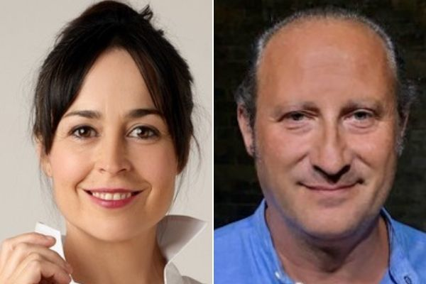 Leyre Berrocal & Josema Gomez are the Spanish cast of The Eyes of the Night at the Cervantes Theatre in September 2019