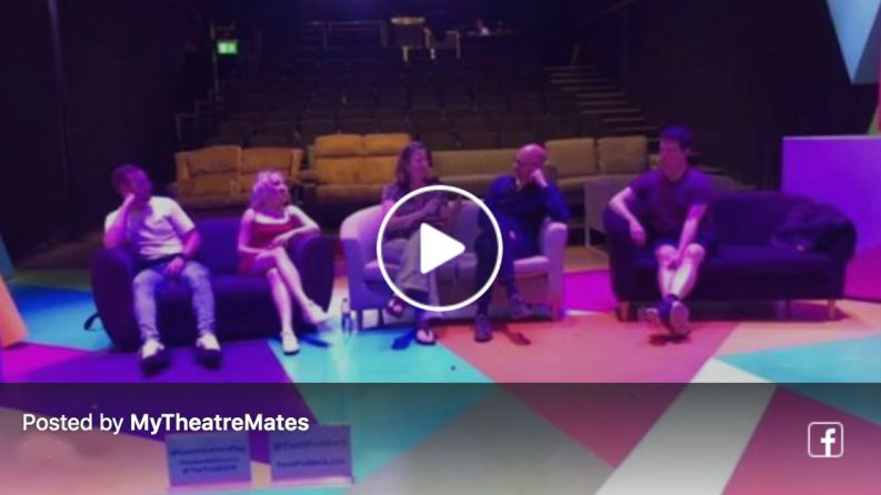 Terri Paddock's Games for Lovers post-show Q&A with Evanna Lynch, Calum Callaghan, writer Ryan Craig & director Anthony Banks at The Vaults, London on 7 August 2019