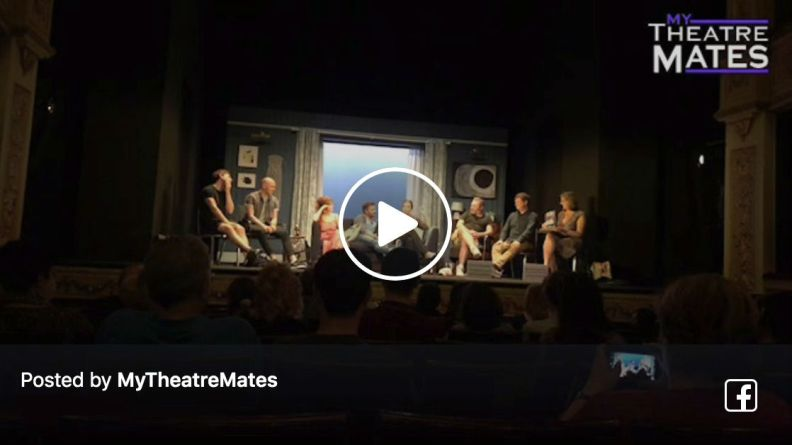 Samantha Womack, Alex Ferns, Marc Elliott and the cast of The Girl on the Train at the post-show Q&A at the West End's Duke of York's Theatre