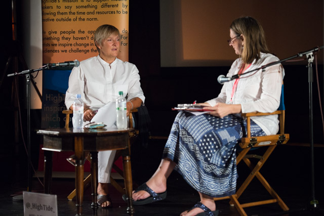 Terri Paddock chairs an In Conversation With... director Deborah Warner the 2019 HighTide Festival in Aldeburgh