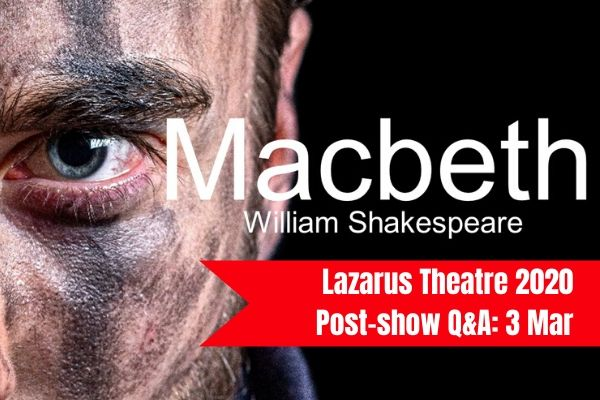 Join Terri Paddock for Macbeth's post-show Q&A at London's Greenwich Theatre on 3 March 2019
