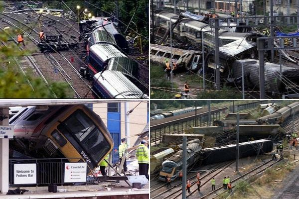 Four major rail disasters are covered in David Hare's The Permanent Way: Southall (1997), Ladbroke Grove (1999), Hatfield (2000) & Potters Bar (2002)