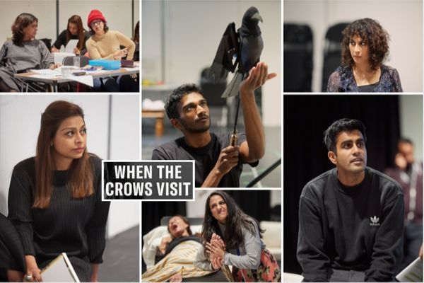 When the Crows Visit in rehearsals ahead of its world premiere at London's Kiln Theatre, October 2019. © Helen Maybanks