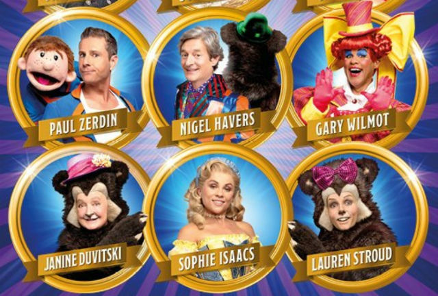 The star-studded cast of Goldilocks & the Three Bears at the London Palladium