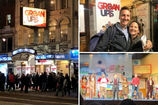 Terri Paddock attended opening night for the world premiere of Mischief Theatre's Groan Ups at London's Vaudeville Theatre, 10 October 2019
