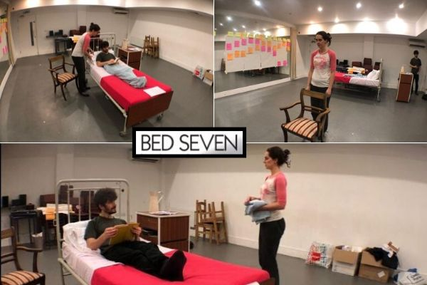 Rehearsals for Bed Seven - Tristan Bates Theatre - November 19
