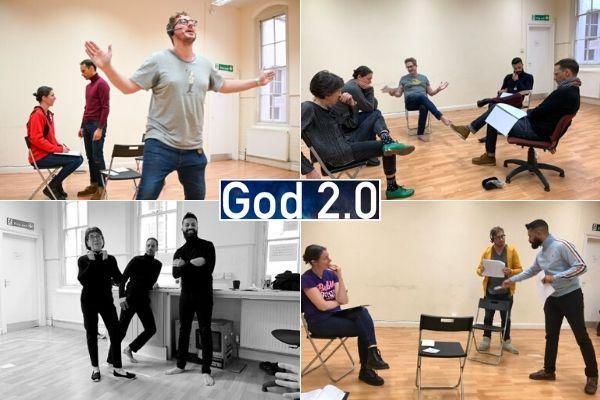 God 2.0 rehearsals - Lion and Unicorn Theatre - Nov 2019