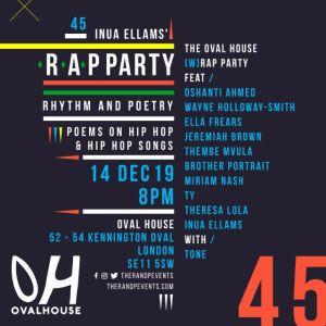 WRAP Party - Ovalhouse Demolition Party - December 2019