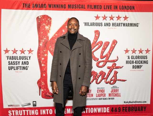 Kinky Boots The Musical - Matt Henry (Lola) at the Cast and Crew Screening at Vue Cinema West End. Photo credit Darren Bell.