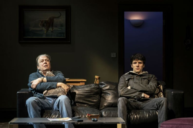Roger Allam & Colin Morgan in A Number at the Bridge Theatre, London, February 2020. © Johan Persson