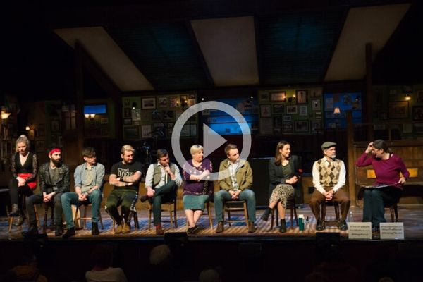 The cast of Once at Terri Paddock's post-show Q&A. © Peter Jones