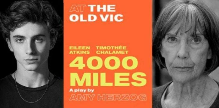 4000 Miles is due at the Old Vic Theatre
