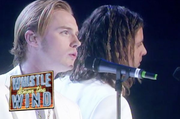 Boyzone performing at Andrew Lloyd Webber's 50th birthday concert at the Royal Albert Hall in 1998.
