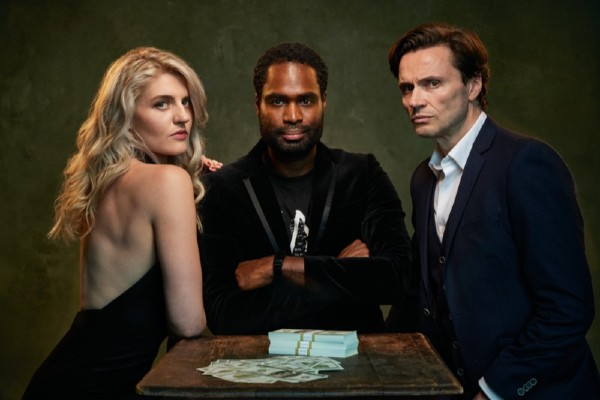 Lizzy Connolly, Ako Mitchell and Norman Bowman star in Indecent Proposal at London's Southwark Playhouse