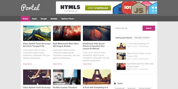 Portal Free Magazine WordPress Theme MyThemeShop