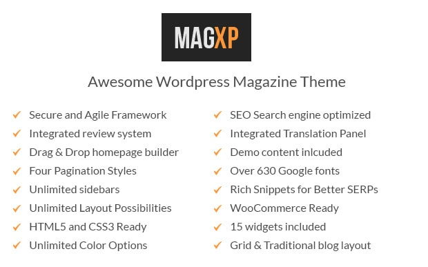 Themes WordPress MagXP Resvonsive