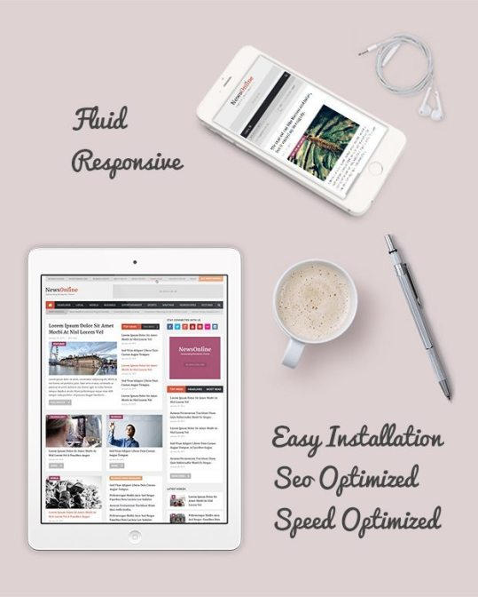 Wordpress Themes NewsOnline