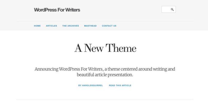 WordPress For Writers