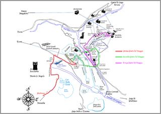 La mappa del Fantastico Viaggio di Archeofantasia!