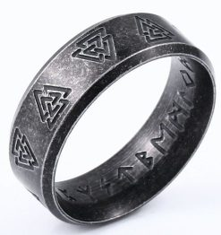 Viking Valknut Ring Bevel
