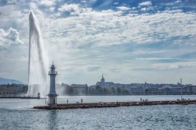 Geneva's harbour entrance