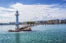 Geneva's right bank harbour jetty