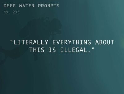 writing prompt 1 illegal