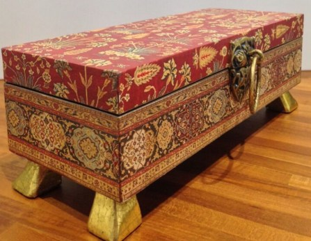 turkish print decorative home decor box, the sandalwood room